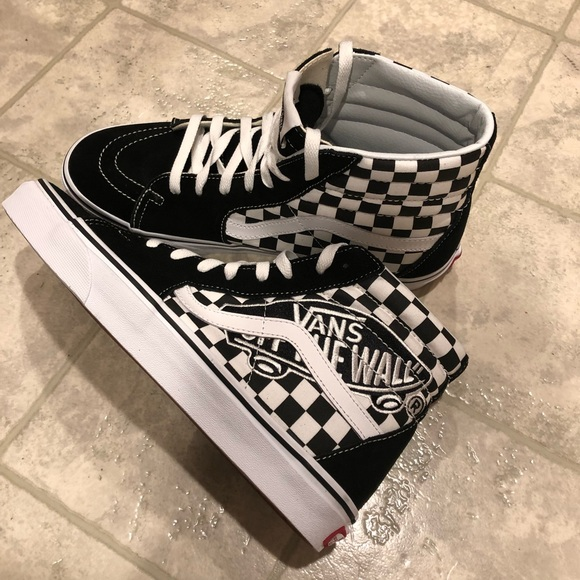 Vans patch checkerboard High Top Sneakers NWT